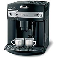 De Longhi–Cafetera automática magnifica ESAM Plata Acero Inoxidable/Plástico espumador de leche/Automat. Programa de limpieza/café ajustable magnifica ESAM