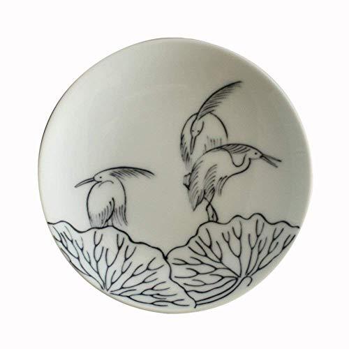 ARITA Ware NABASHIMA Small Pattern Heron Plate KOMON