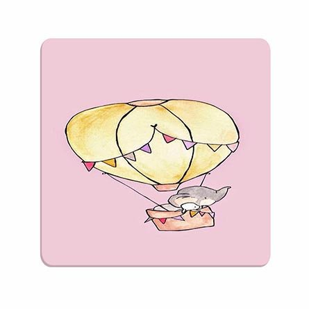 Pad Super Hot Mouse (Girls Vintage Super Lightweight Mousepads Elephant In Hot Air Balloon Designed Premium For Family)