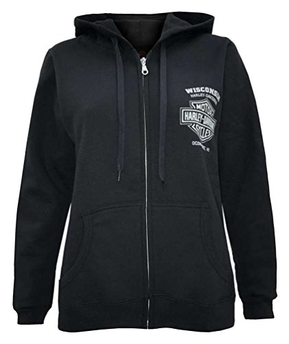 Harley Davidson Womens Embellished Enchanted Zippered