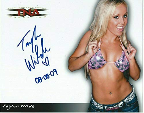 Taylor Wilde Signed TNA Promo 8x10 Photo #1 WWE - Autographed Wrestling Photos