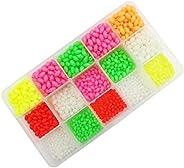 Colourful and Green Luminous Glow Fishing Beads,Hard Plastic Oval Shaped Fishing Eggs,Assortment Green Sea Fis