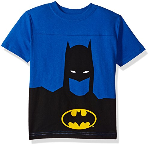 DC Comics Boys' Big' Batman T-Shirt, Blue, 14/16