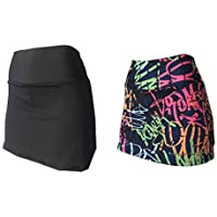 KIT 2 Shorts Saia Suplex Cós Alto Estampada ou Lisa