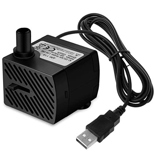 Ample USB Plug DC 5V Mini Pet Fountain Replacement Pump for Cat Fountain, Dog Founntain, Aquariums, Fish Tank, Tabletop Fountain, Statuary, Bird Bath, Water Features