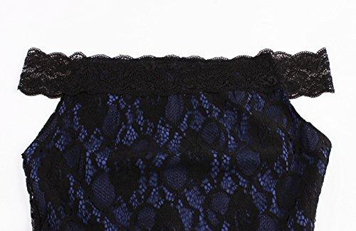 VKStar - Vestido - Noche - Básico - Sin mangas - para mujer Azul