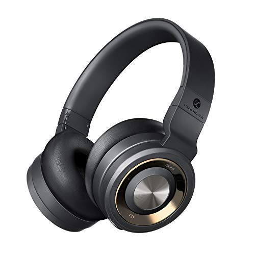LINPA Bluetooth Headphones Over Ear (Black)