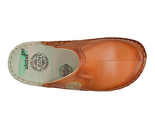 Chaussons Mules Chaussures En 360 Cuir Dames Sabots Femme Leon Marron qf1xZwBCE