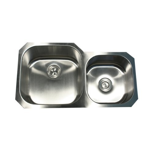 Nantucket Sinks NS3520-16 35-Inch Double Bowl Undermount Stainless Steel Kitchen Sink by Nantucket Sinks by Nantucket Sinks