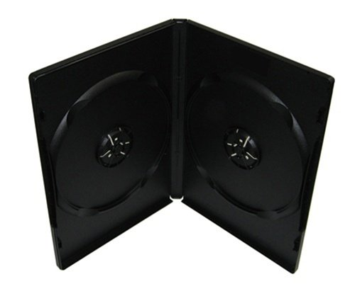 mediaxpo Brand 100 Premium Standard Black Double DVD Cases (100% New Material)