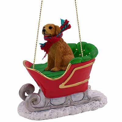 Golden-Retriever-Dog-in-Sleigh-Christmas-Ornament-New-by-Conversation-Concepts