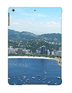 Honeyhoney Ultra Slim Fit Hard Case Cover Specially Made For Ipad Air- Rio De Janeiro Bay