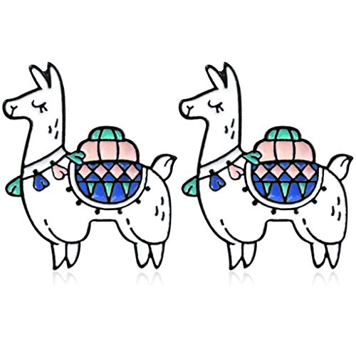 Charmart Adventure Alpaca Lapel Pin 2 Piece Set Desert Camel Enamel Brooch Pins Denim Jacket Collar Bag Backpack Badges Gifts