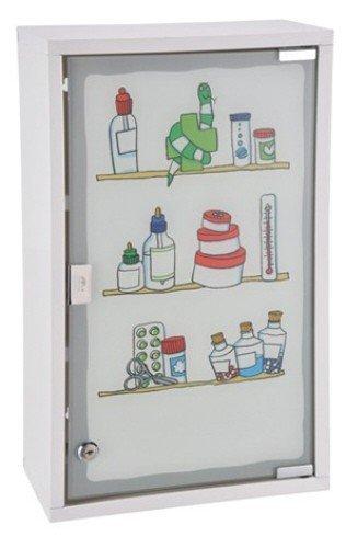 Medizinschrank Arzneischrank Erste Hilfe Verbandsschrank Wandschrank Medikamentenschrank Weiß Tip-On 30x50x15cm