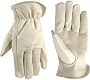 Leather Work Gloves with Reinforced Palm, DIY, Yardwork, Construction, Motorcycle, XX-Large (Wells Lamont 1130