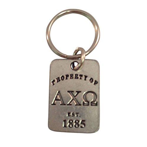 Alpha Chi Omega Property of Keychain Metal AXO (Merchandise Alpha)