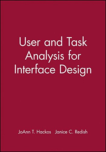 User and Task Analysis for Interface (System Spa Design)