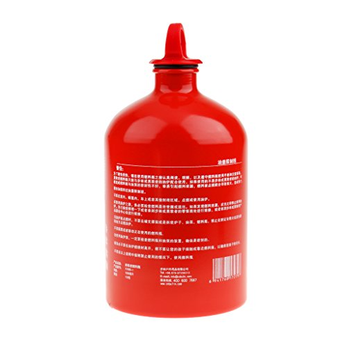 Generic New Outdoor Camping Travel Picnic Gas Oil Fuel Bottle Motorcycle Emergency Petrol Storage Can - Red, 1000ml by Generic