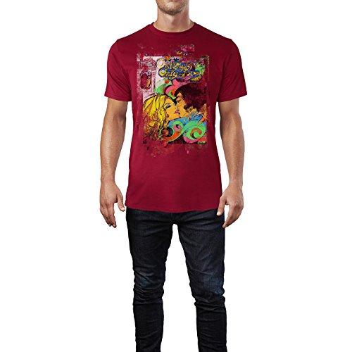 SINUS ART® My Only Love Herren T-Shirts stilvolles dunkelrotes Cooles Fun Shirt mit tollen Aufdruck