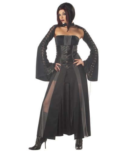 California Costumes Women's Baroness Von Bloodshed Costume, Black/Grey,Large