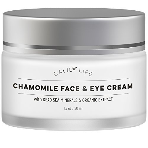 Calily Life Chamomile Face Cream for Face and Eye with Dead Sea Minerals, 1.7 Oz. - Calming and Soothing for Sensitive and irritated Skin - Deep Moisturizing, Anti-Aging and Reduces Puffiness ()