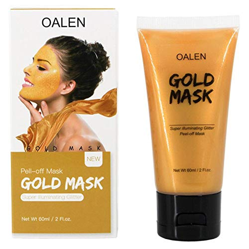 - Gold Mask Tear Off Face Mask Beauty Deep Clean Moisturizing Contraction Of Tearing Pores Yellow Gold Peel Off Mask Skin Care Color as show