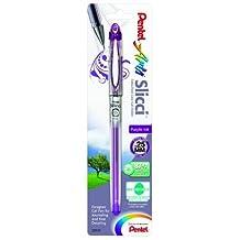 Pentel Arts Slicci Extra Fine Gel Pen, 0.25mm, Purple Ink, 1 Pack (BG202BPV) by Pentel