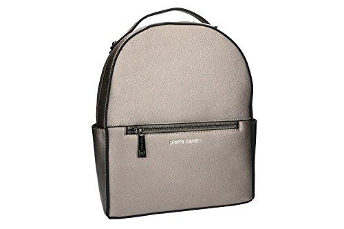Pam Shop Bolsa mujer mochila hombro PIERRE CARDIN gris con abertura zip VN993