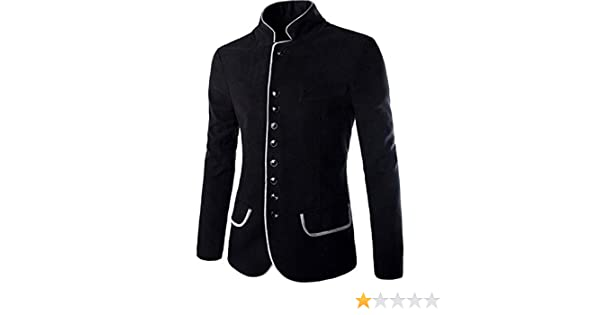 Jeansian Moda Chaqueta Abrigos Blusas Chaqueta Hombres Mens Fashion Jacket Outerwear Tops Blazer 9388 Black L: Amazon.es: Ropa y accesorios