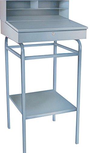 Winholt RDSWN-2 Receiving Desks, Stationary Type, Steel, 22'' x 24'' x 45'' Size, Gray