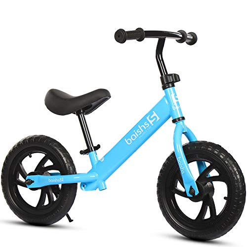 Baby Kids No Pedal Balance Walking Bike Walker for Baby Kids Ages 18 Months to 3 Years Old Steel Frame Adjustable,Blue