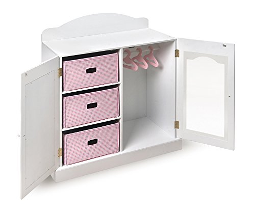 Amazon.com: 18 Inch Doll Clothing Storage Unit Closet Armoire Perfect For  All Your Dollu0027s Clothes, Shoes, Accessories And More With Bonus Outfit And  Doll ...