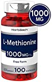 Horbaach L Methionine 1000 mg | 100 Capsules | Non-GMO, Gluten Free | Free Form Supplement