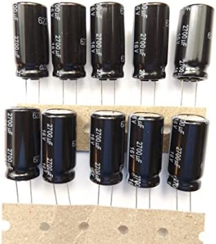 /± 20/% 2700 /µF Radial Leaded FR Series 12.5 mm 10 pieces PANASONIC ELECTRONIC COMPONENTS EEUFR1C272B Electrolytic Capacitor 16 V