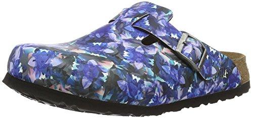 Birkenstock Boston Birko-Flor Softfootbed, Zuecos para Mujer Multicolor - Mehrfarbig (Caleidoscope Blue)