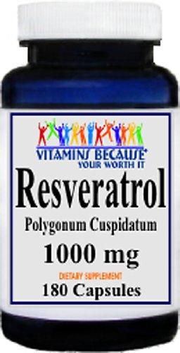 Resveratrol 1000mg 180 Capsules Cholesterol product image