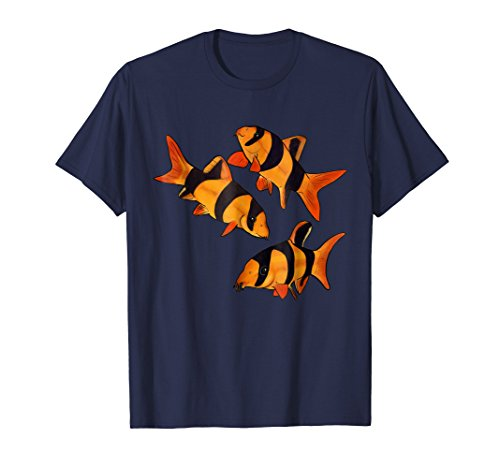 Clown loach fish aquarium shirt -tiger botia (Clown Aquarium Loach)