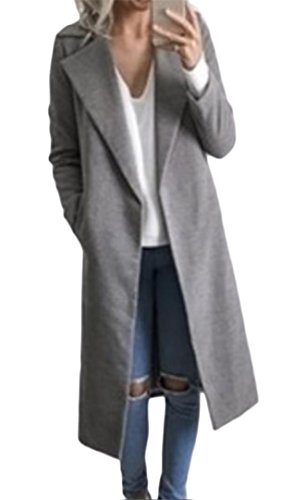Every Damen Mantel Herbst Winter Revers Modisch Trenchcoat Klassiker