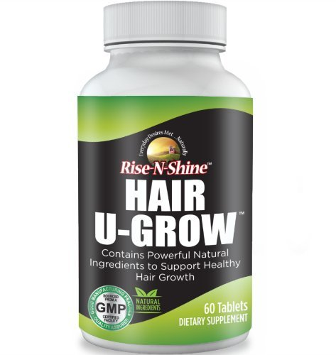 Hair U Grow Nutritional Supplement with Saw Palmetto, Biotin, PABA, Folic Acid, MSM, Ginkgo, powerful Vitamins and more for Healthy Hair Growth & Longer, Stronger, Healthier Hair, Lashes & Nails