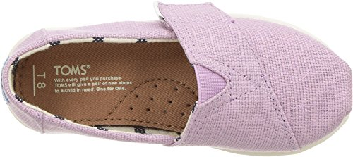 TOMS Kids Baby Girl's Venice Collection Alpargata (Infant/Toddler/Little Kid) Soft Lilac Heritage Canvas 6 M US Toddler - Image 1