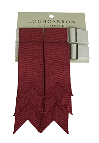 Premium Quality Wool Kilt Hose Flashes (Weathered Red)