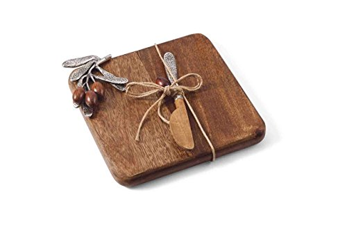 Wood Handled Spreader (Mud Pie Olive Collection Small Cutting Board Set)