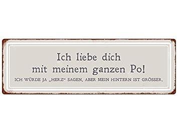 METALLSCHILD Blech ICH BIN EIN MANN Lustig Spruch Frau Geschenk Dekoschild