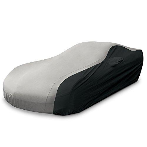 Corvette Z06 Car Cover - C6 Corvette Ultraguard Car Cover - Indoor/Outdoor Protection : Silver/Black