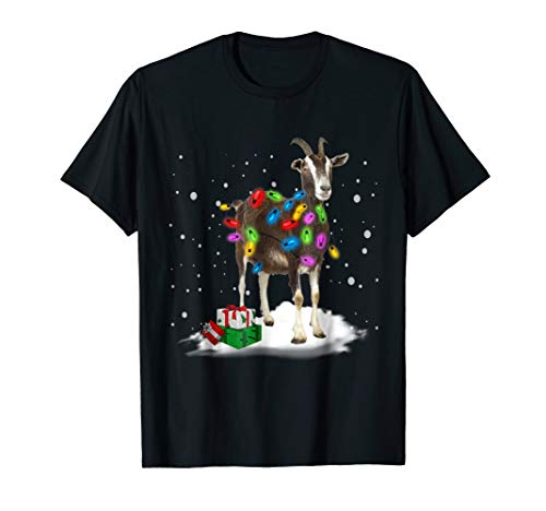- Christmas Lights Goat, Goat Lover T-Shirt