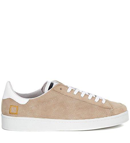 D.A.T.E. Sneaker Twist Perforated in camoscio Beige Traforato Beige