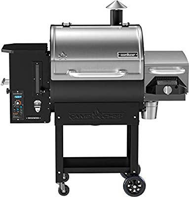 Camp Chef Woodwind SG 24 Pellet Grill with Sear Box - Smart Smoke Technology - Ash Cleanout System - with Slide and Grill Technology