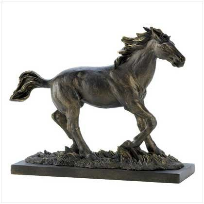 Koehler Home Indoor Decorative Wild Stallion Horse Racing Polystone Figurine Statue (Horse Racing Figurines)