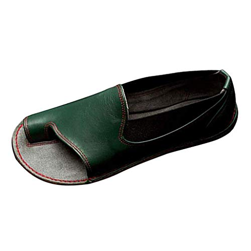 〓COOlCCI〓Womens Casual Slip-On Loafer Open Toe Loafers & Slip-Ons,Flip Flops Toe Ring Side Cutout Flat Sandals,Oxfords - Giants Toe Francisco San Ring