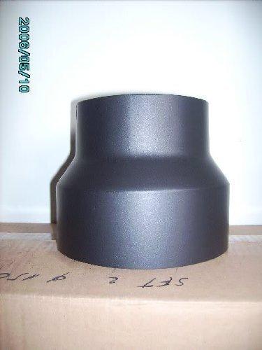 Reductor de 150>120 mm para chimenea estufa tubería, negro